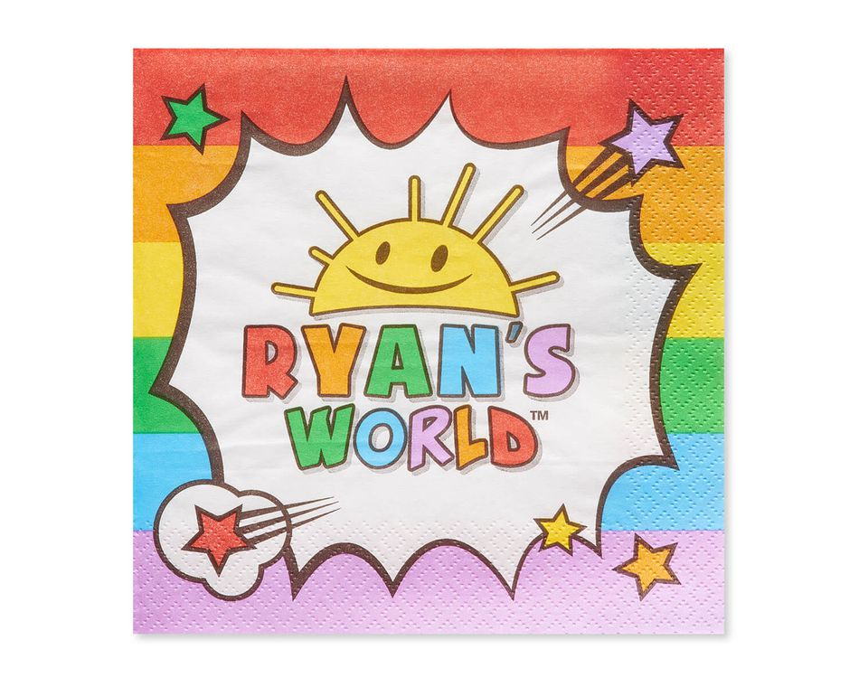 Ryan's World Lunch Napkins, 16-Count