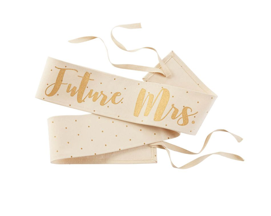 Mud Pie Future Mrs. Canvas Wedding Sashes