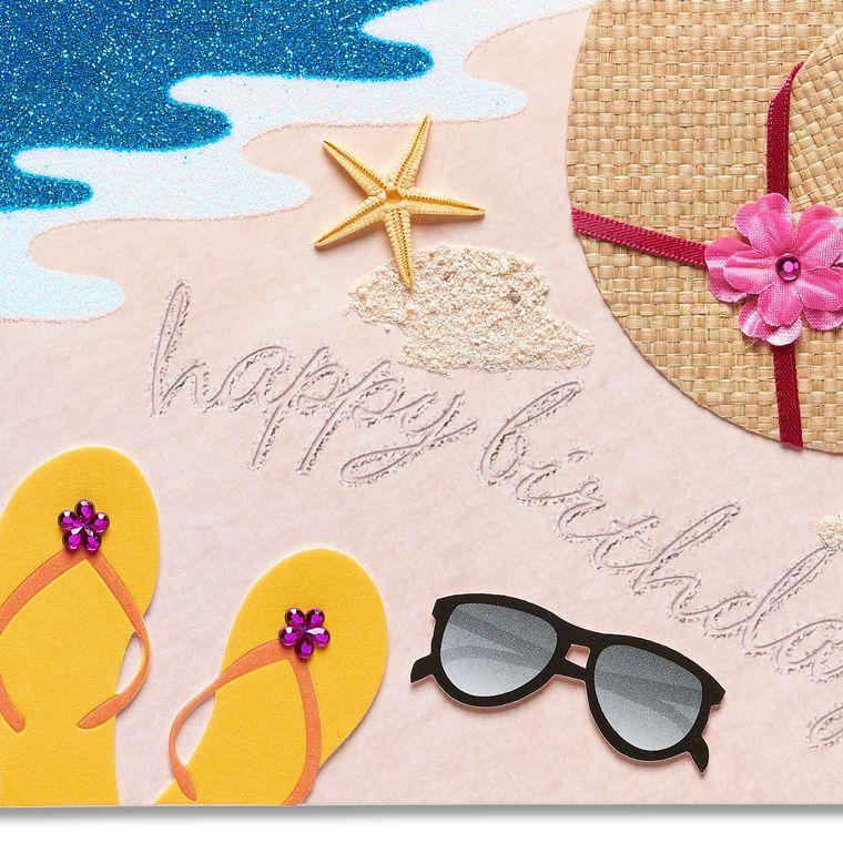 Beach Birthday Greeting Card