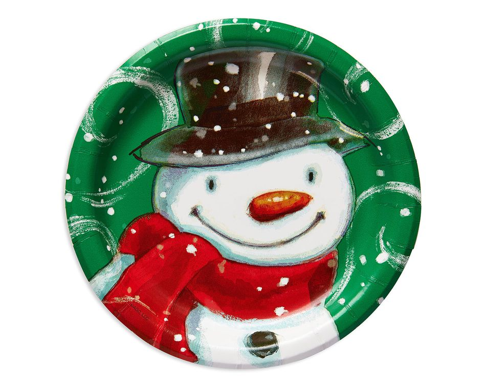 frosty friends dessert round plate 8 ct