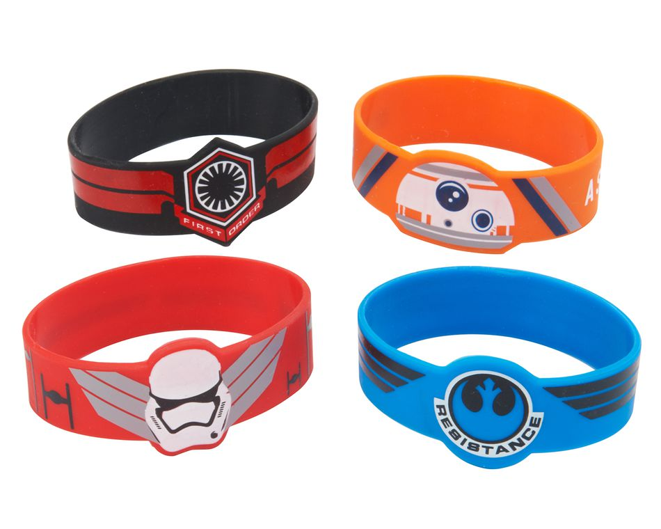 Star Wars Episode VII Rubber Bracelets, 4 Count