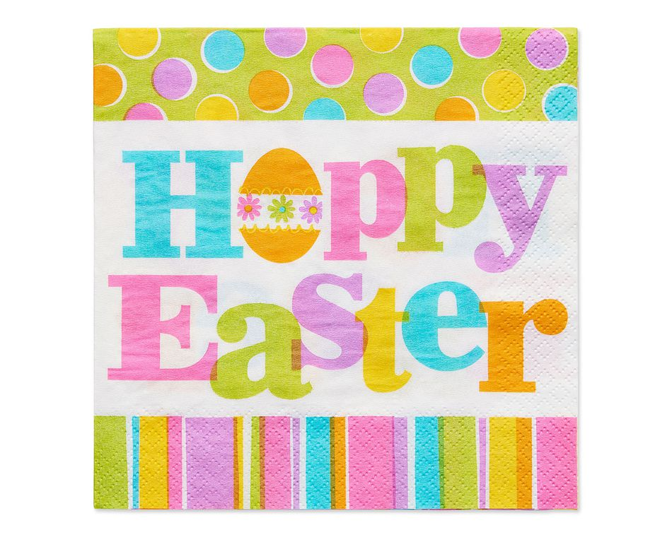 hoppy easter lunch napkin 16 ct