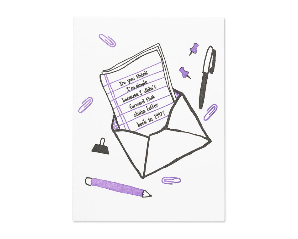 chain letter friendship card