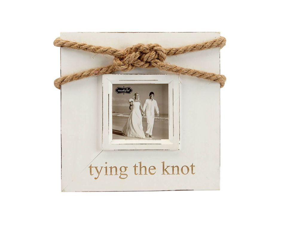 Mud Pie Tying The Knot Rope Picture Frame