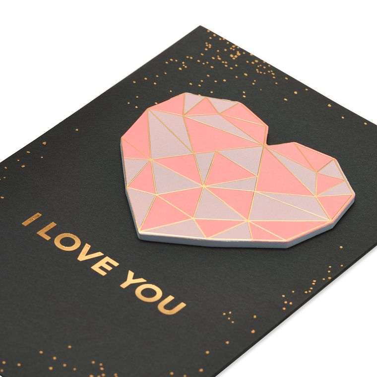 Geometric Heart Valentine's Day Card