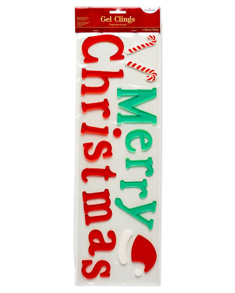 Merry Christmas Gel Window Cling