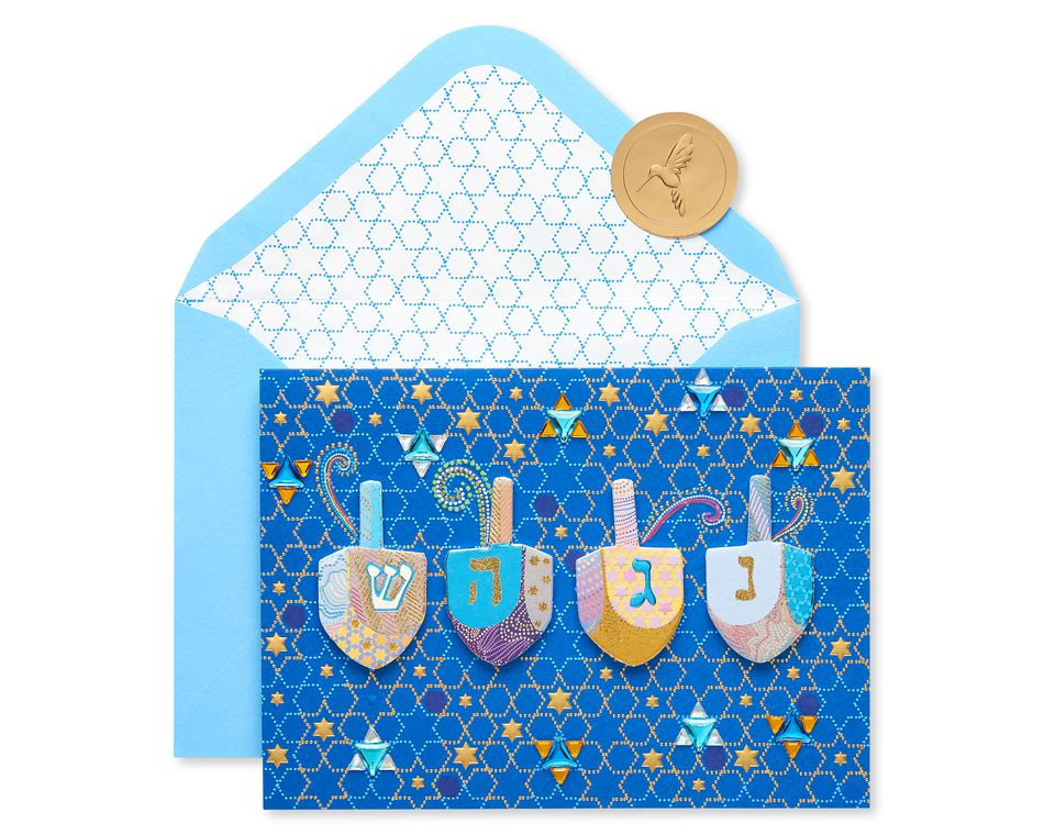 Dreidels Hanukkah Greeting Card