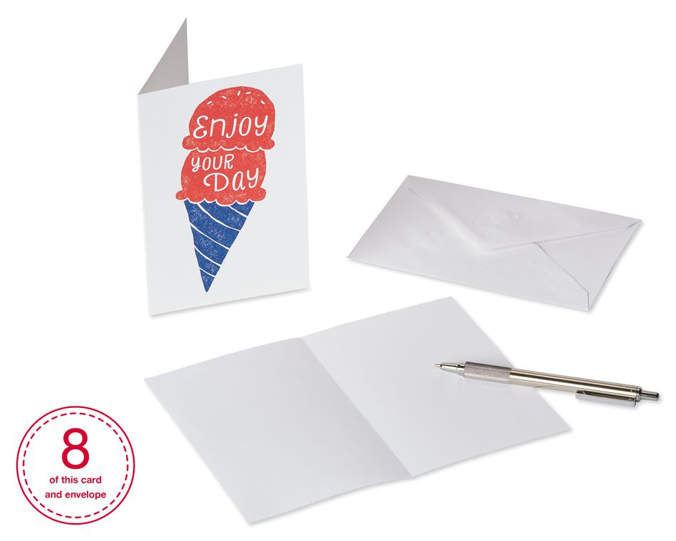 Birthday Greeting Card Bundle with White Envelopes, 48-Count