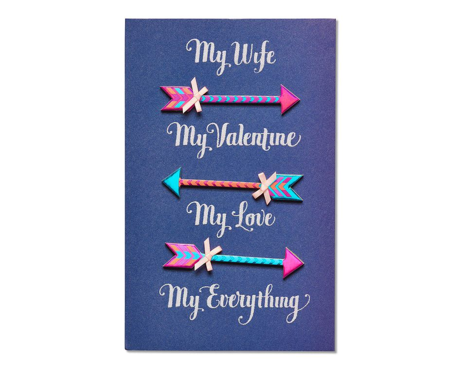 Arrow Valentine's Day Card for Wife