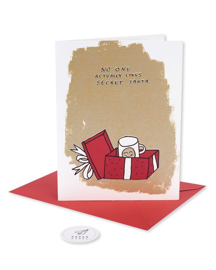 secret santa holiday card