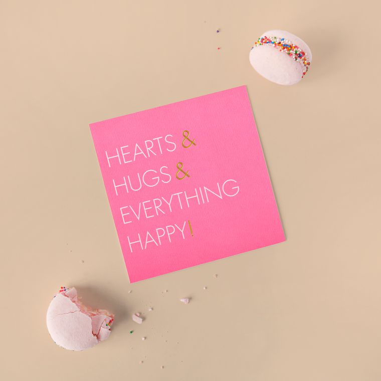 Hugs Valentine's Day Cards, 6-Count