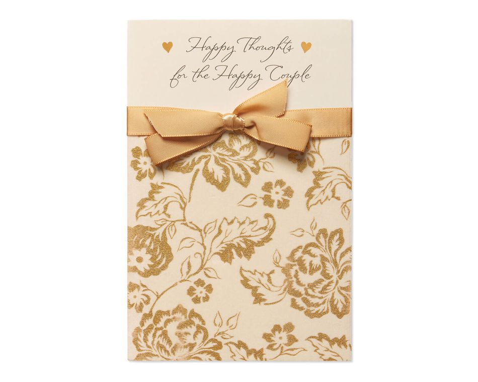 Happy Thoughts Wedding Card