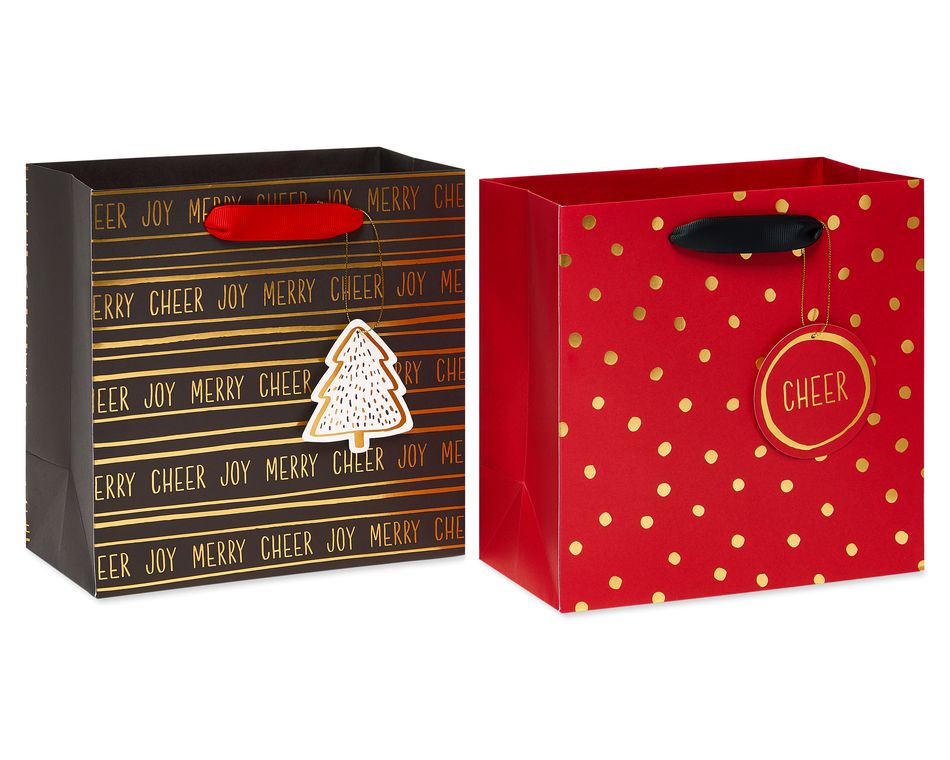 Christmas Joy Gift Bag Set, 3-Count