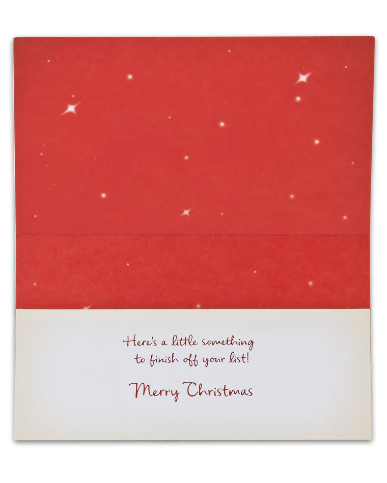 Money Holder Christmas Card