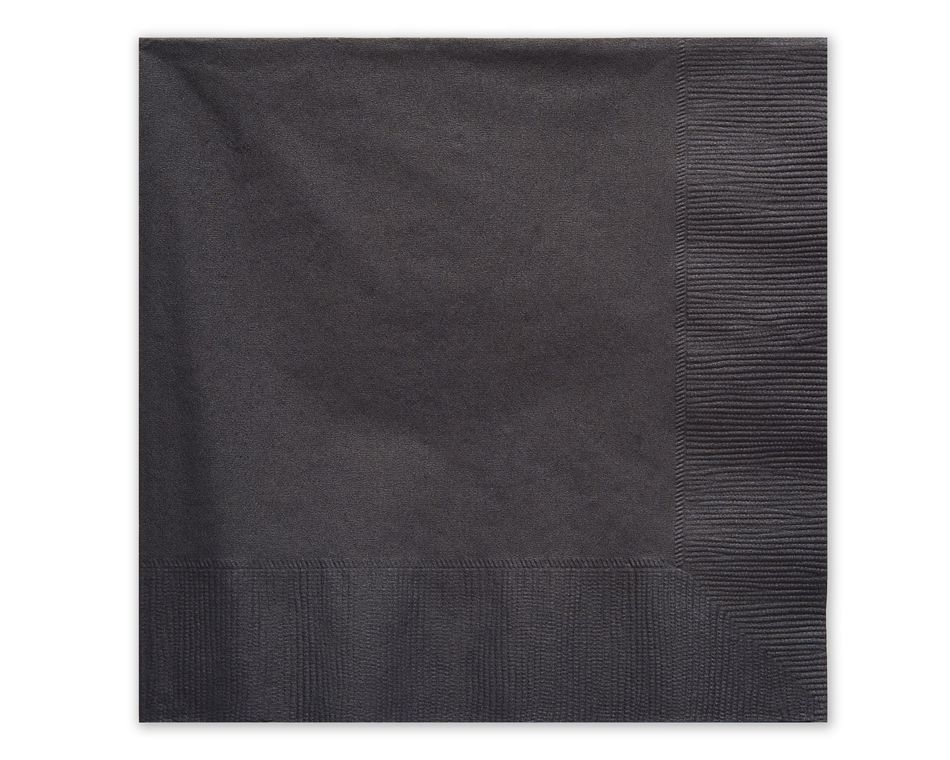 Black Lunch Napkins, 50 Count