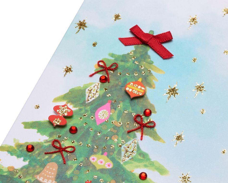 Watercolor Christmas Tree Christmas Greeting Card