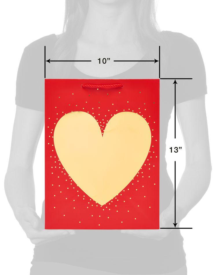 Medium Gold Foil Heart Gift Bag