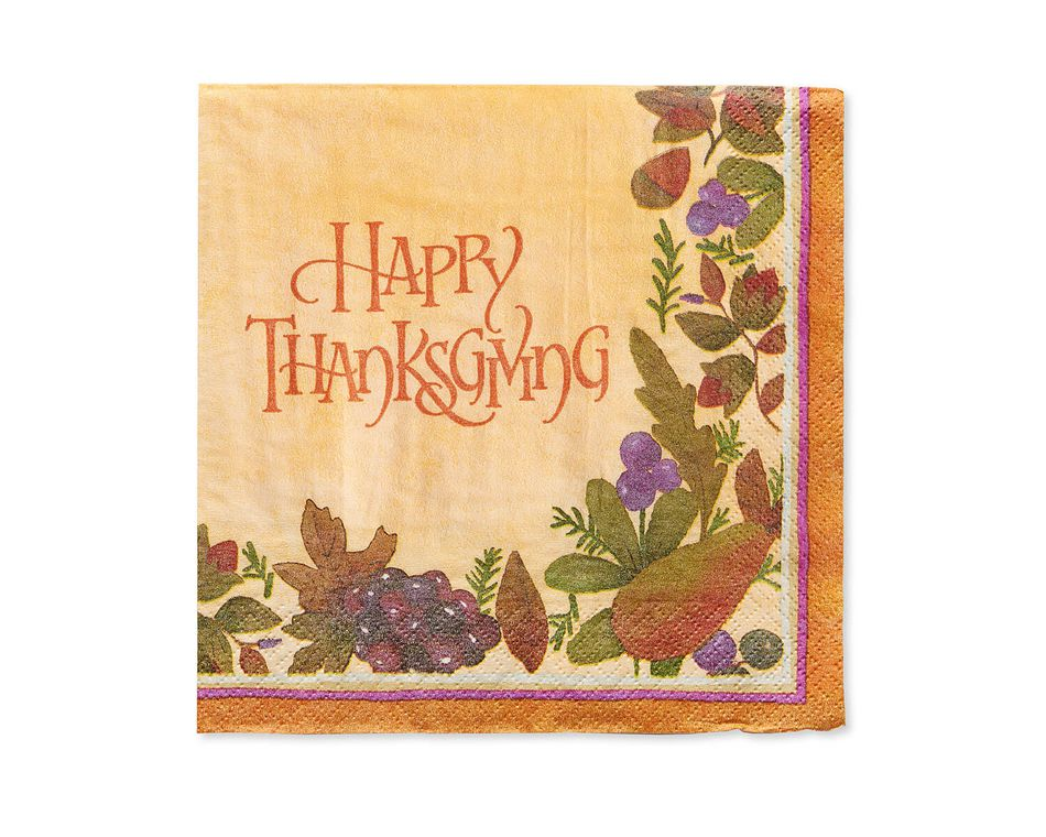 Thanksgiving Medley Lunch Napkins, 16-Count