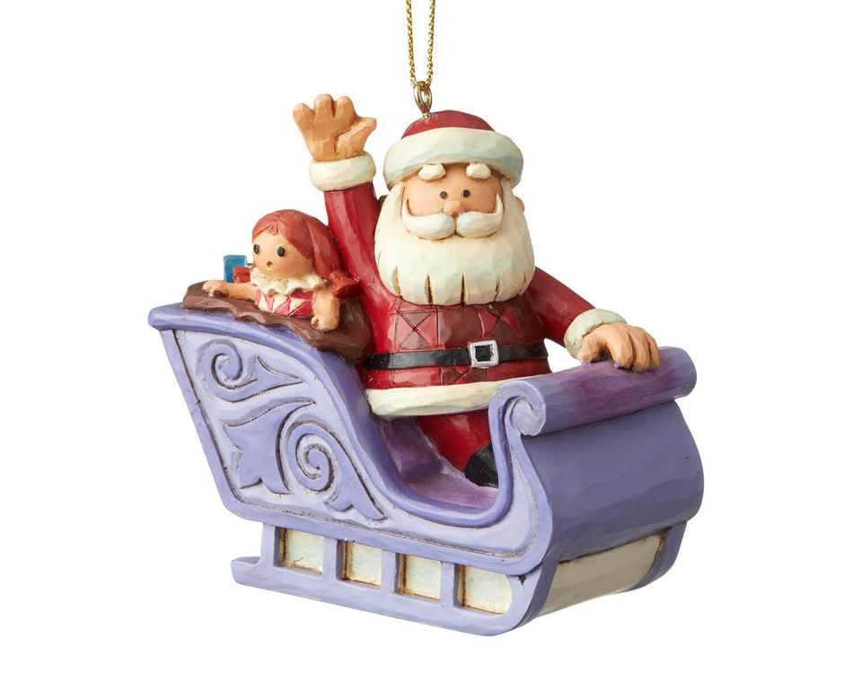 Jim Shore Santa's Sleigh Ornament