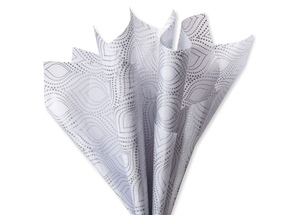 Silver and White Holiday Tissue Paper Bundle