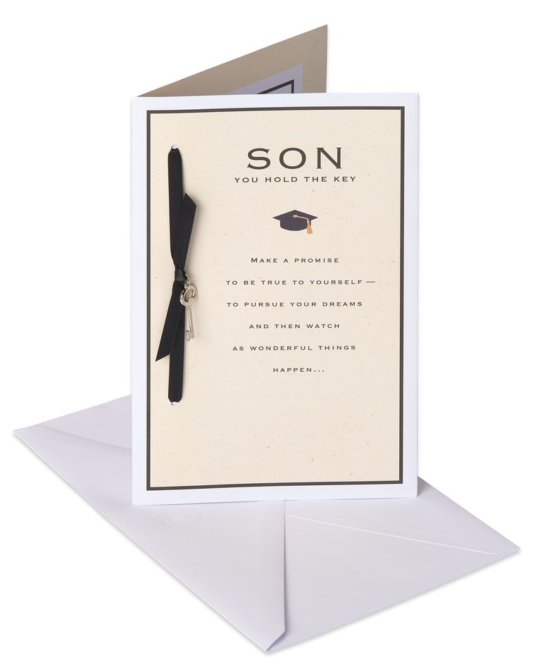 Key Graduation Card for Son