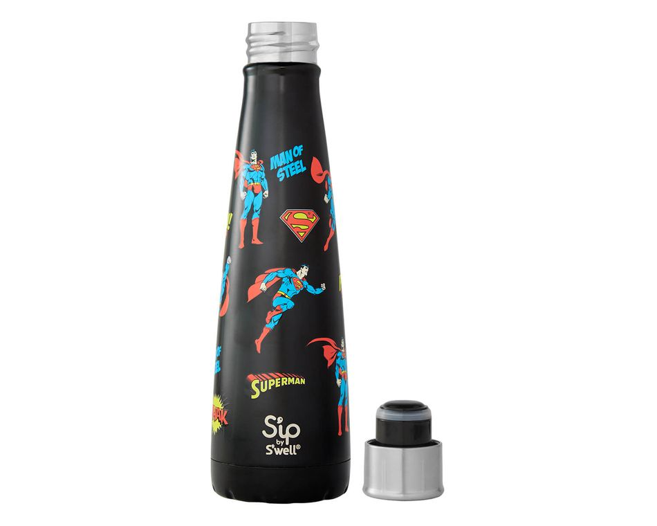 S'ip by S'well® 15 Oz. Man of Steel Stainless Steel Water Bottle