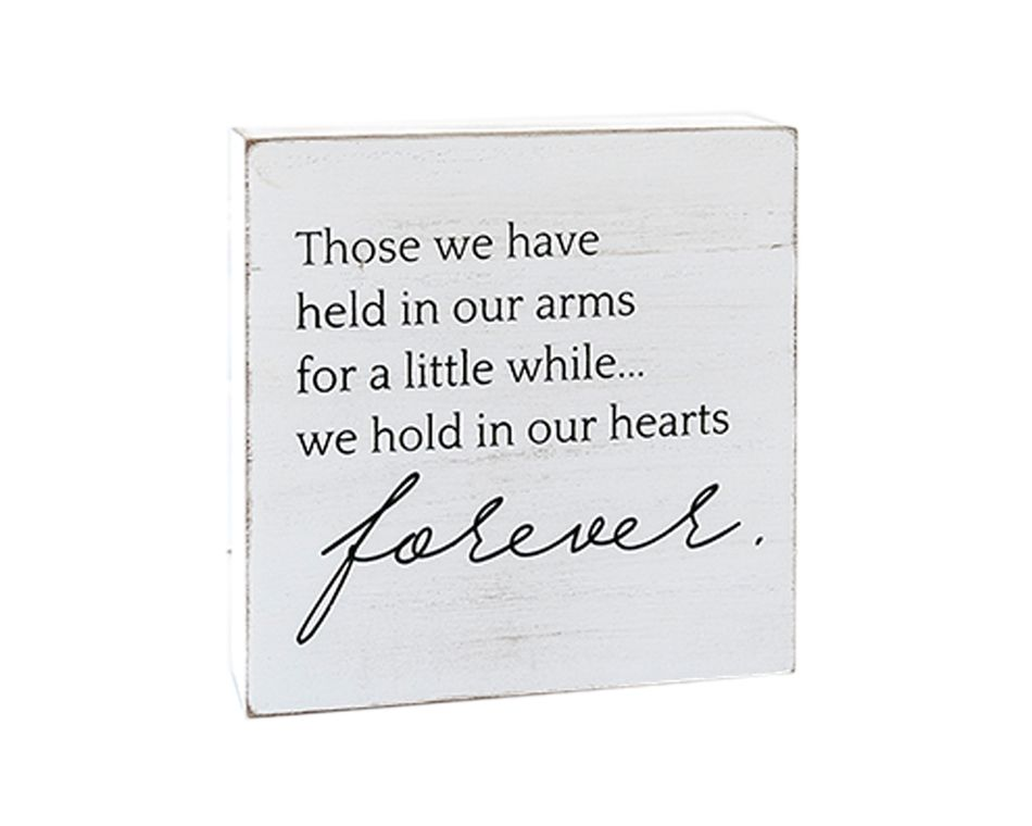 In Our Hearts Forever' Wall Sign
