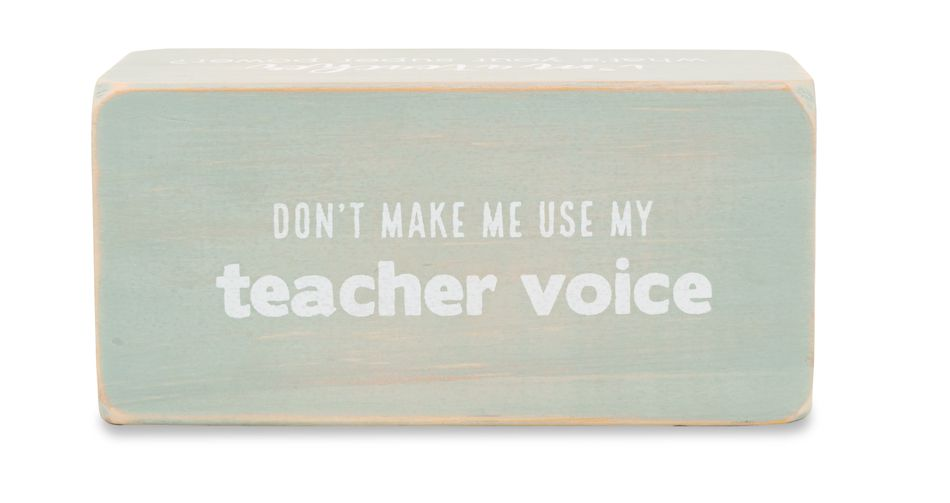 Mud Pie Red Pen Teacher Sentiment Block