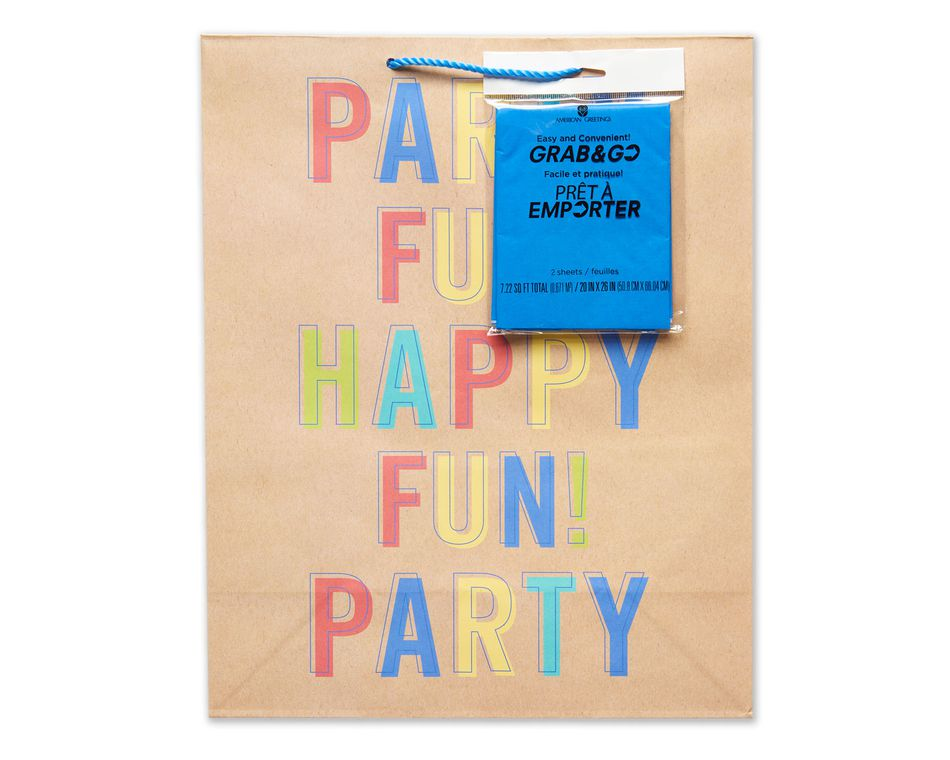 Large Party Fun Grab Go Birthday Gift Bag