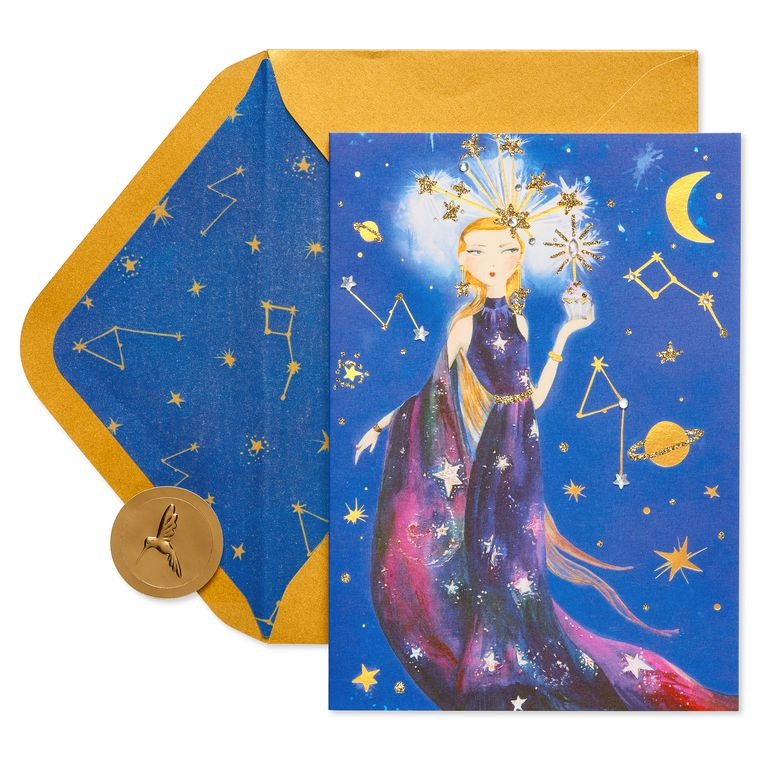Celestial Girl Birthday Greeting Card