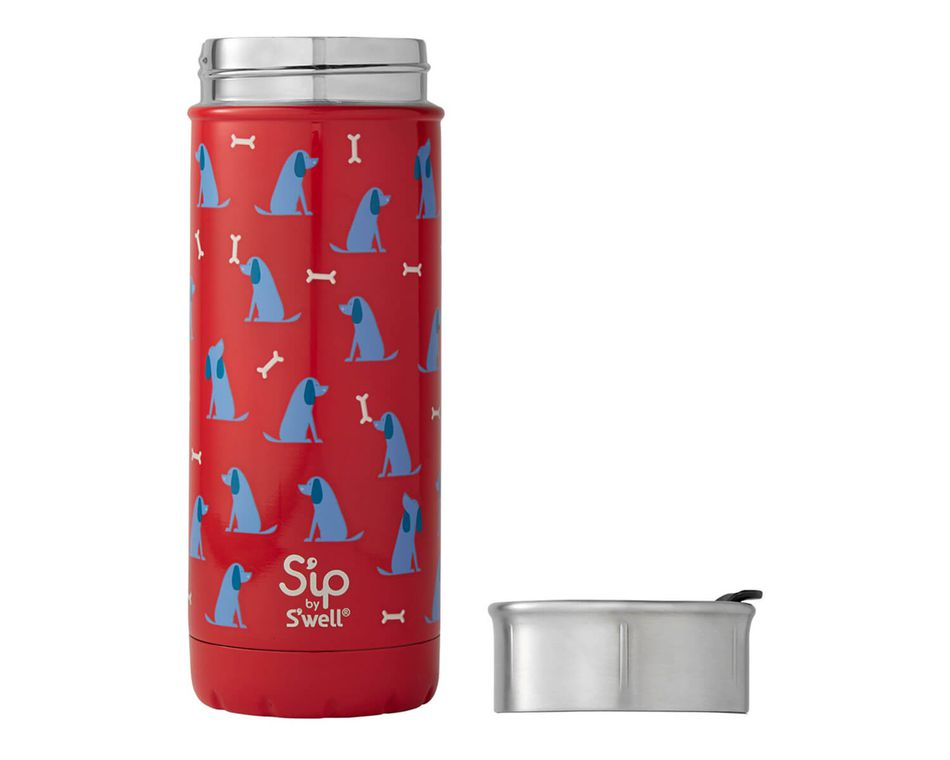 S'ip By S'well 16 Oz. Blue Dog Stainless Steel Travel Mug