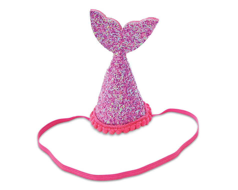 Mud Pie Hot Pink Mermaid Tail Party Hat