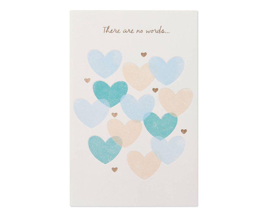 Hearts Sympathy Card