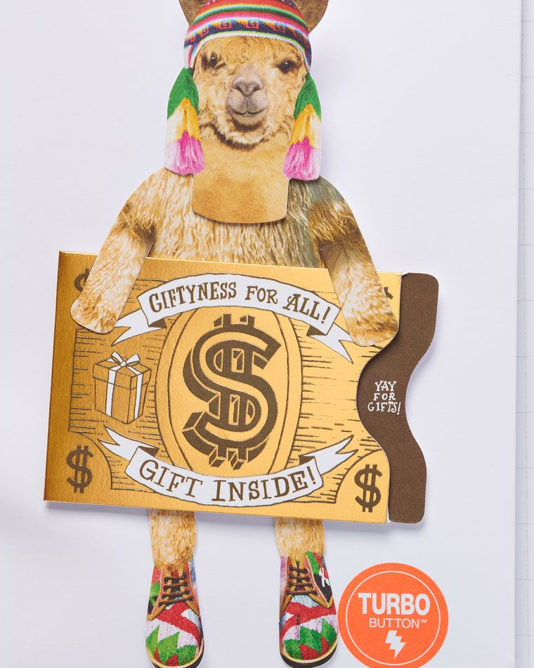 Funny Llama Gift Card Holder Birthday Card