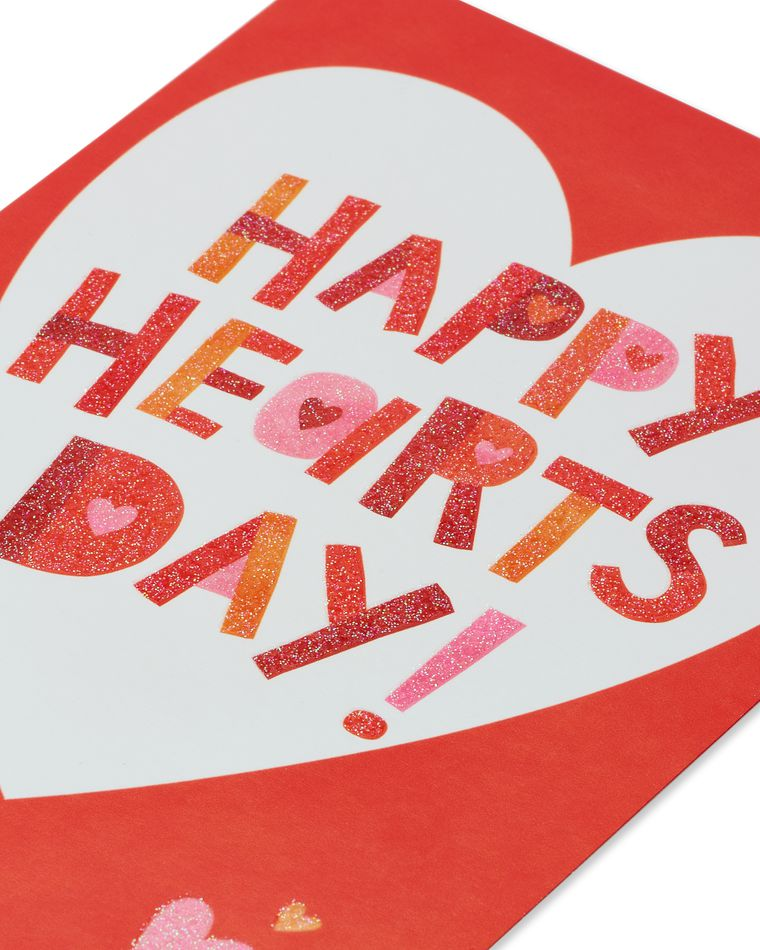 Happy Hearts Day Valentine's Day Card, 6-Count