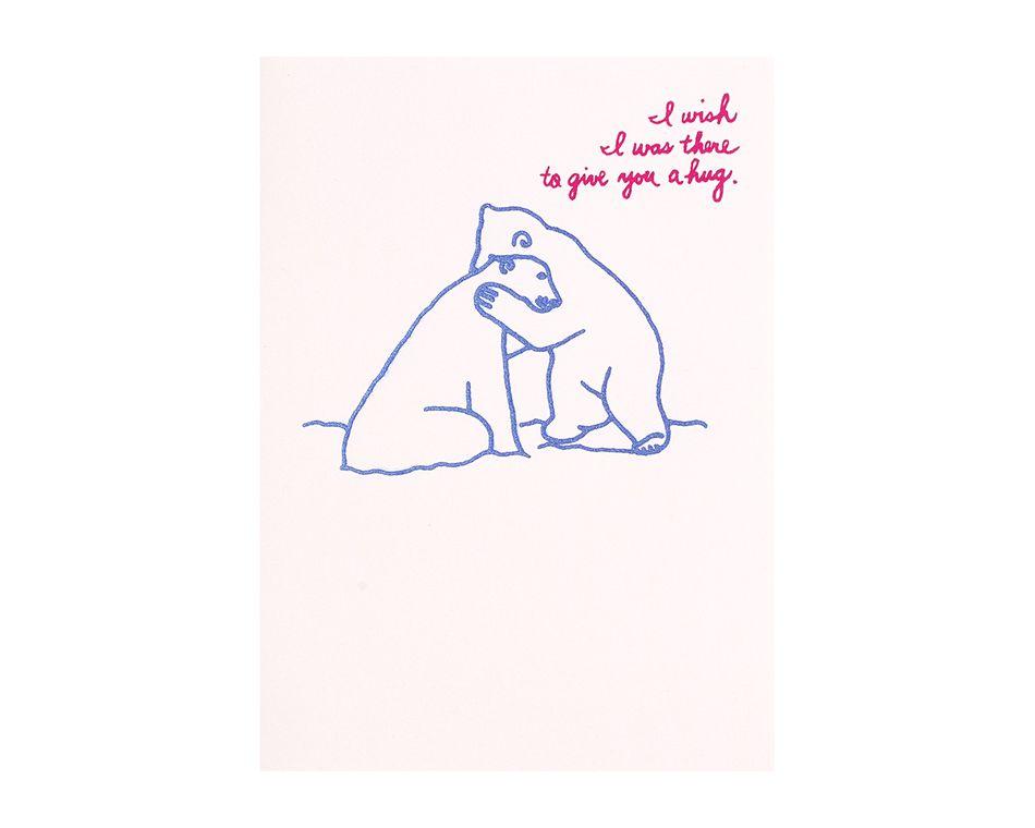 Polar Bear Hug Support Card