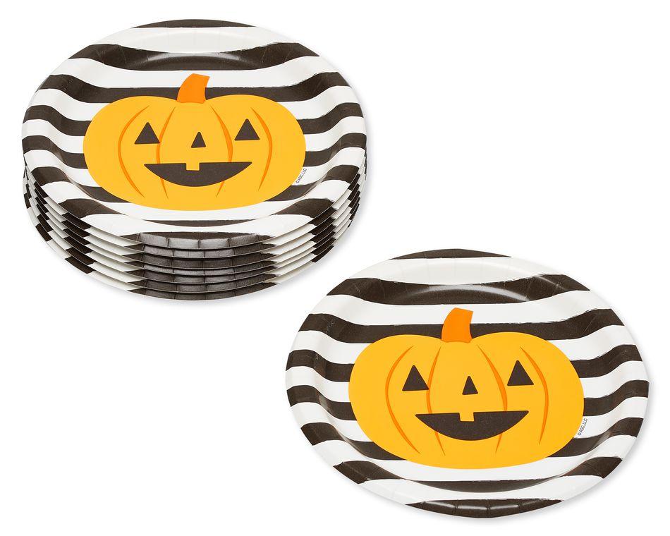 Black Paper Dinner Plates, 8-Count