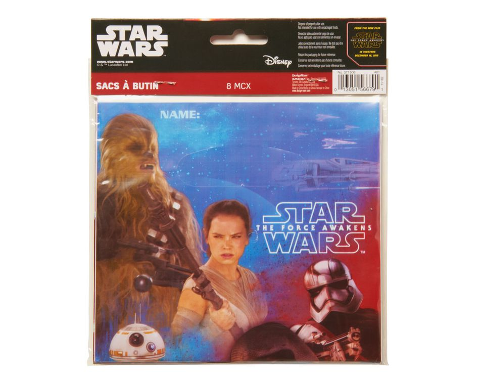 star wars: the force awakens treat bags 8 ct