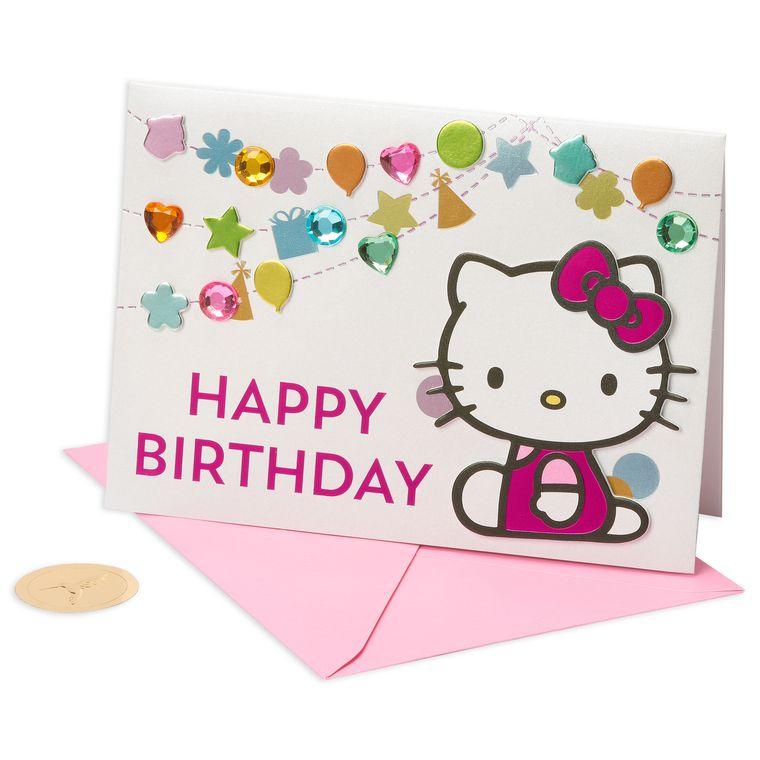 Hello Kitty Birthday Greeting Card