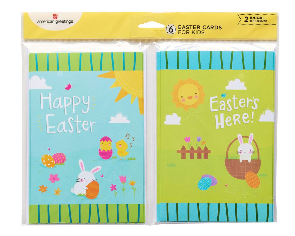 Blue and green bunny easter cards 6 count american greetings blue and green bunny easter cards 6 count m4hsunfo