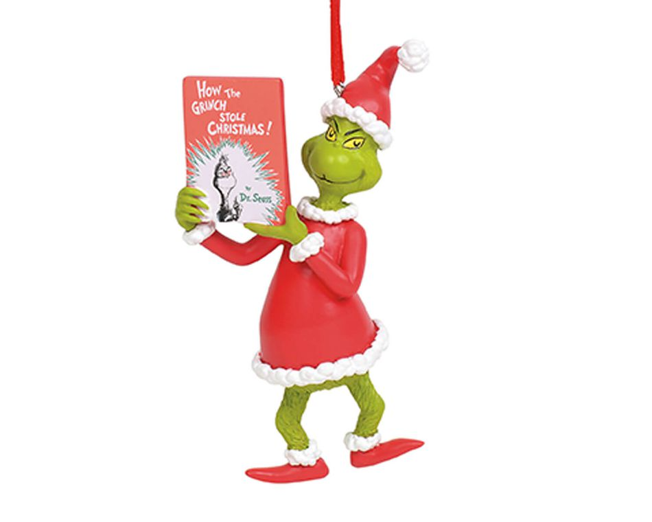 The Grinch Book Ornament
