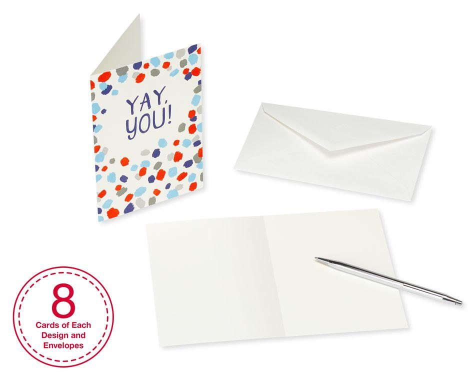 birthday greeting card bundle with white envelopes 48