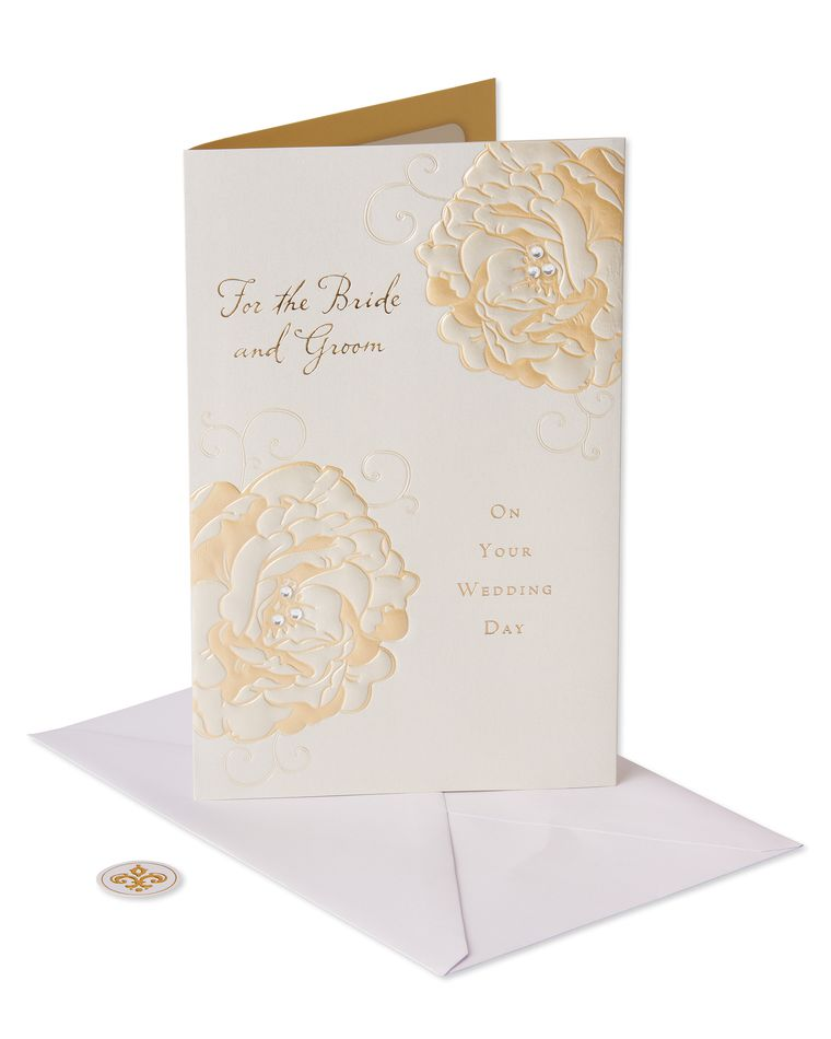 Traditional Wedding Gift From Groom To Bride: Bride And Groom Wedding Card
