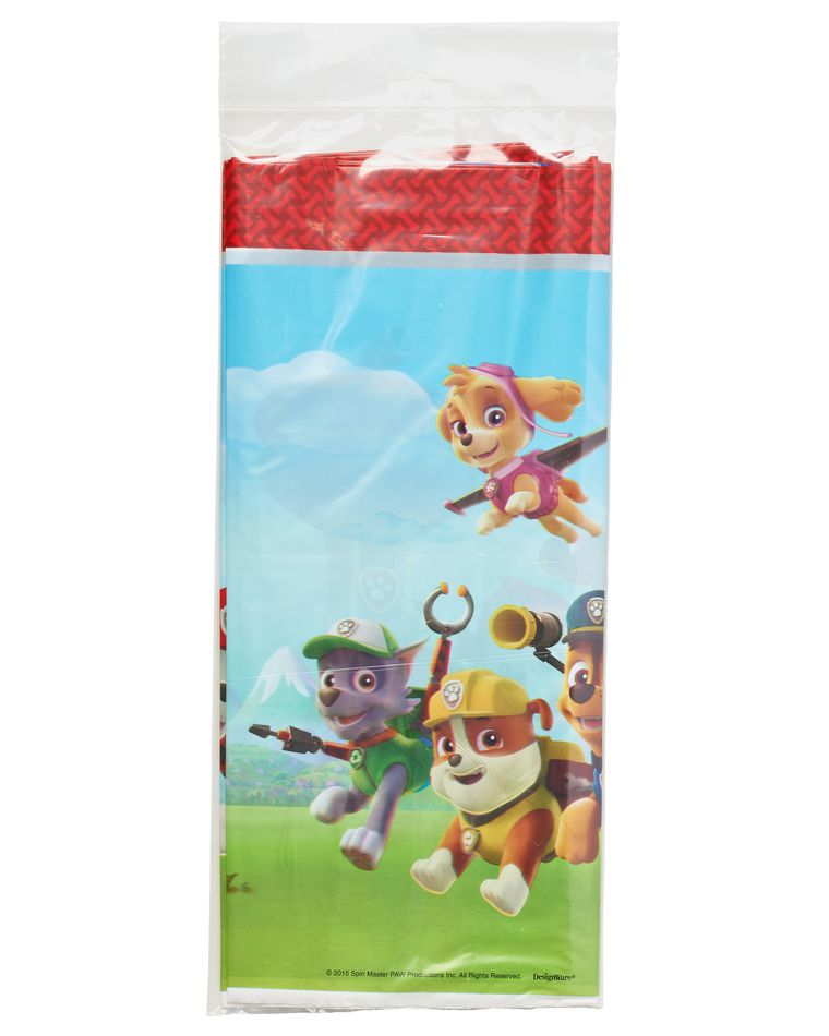 paw patrol plastic table cover 54in x 96in