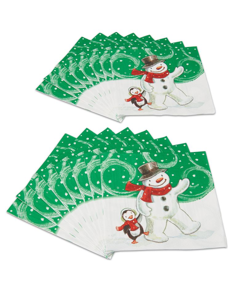 frosty friends dinner napkins 16 ct