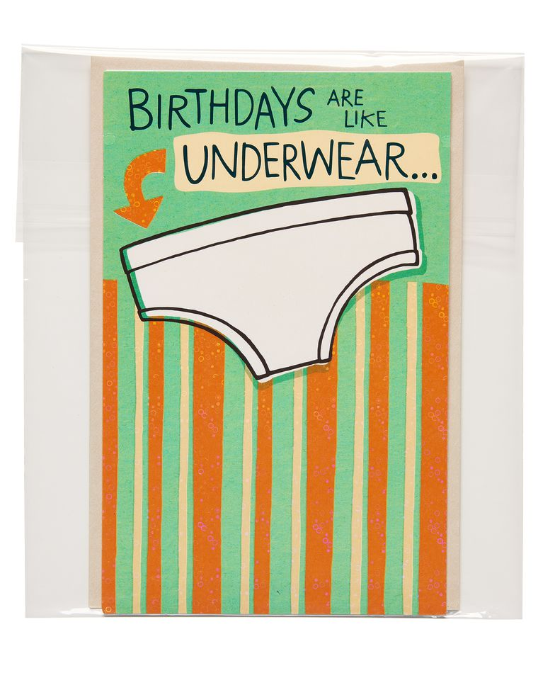 funny underwear birthday card
