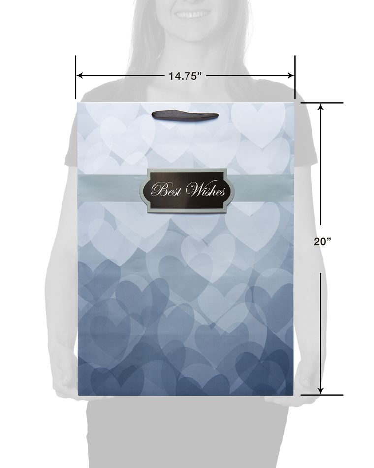 jumbo wedding grey best wishes gift bag