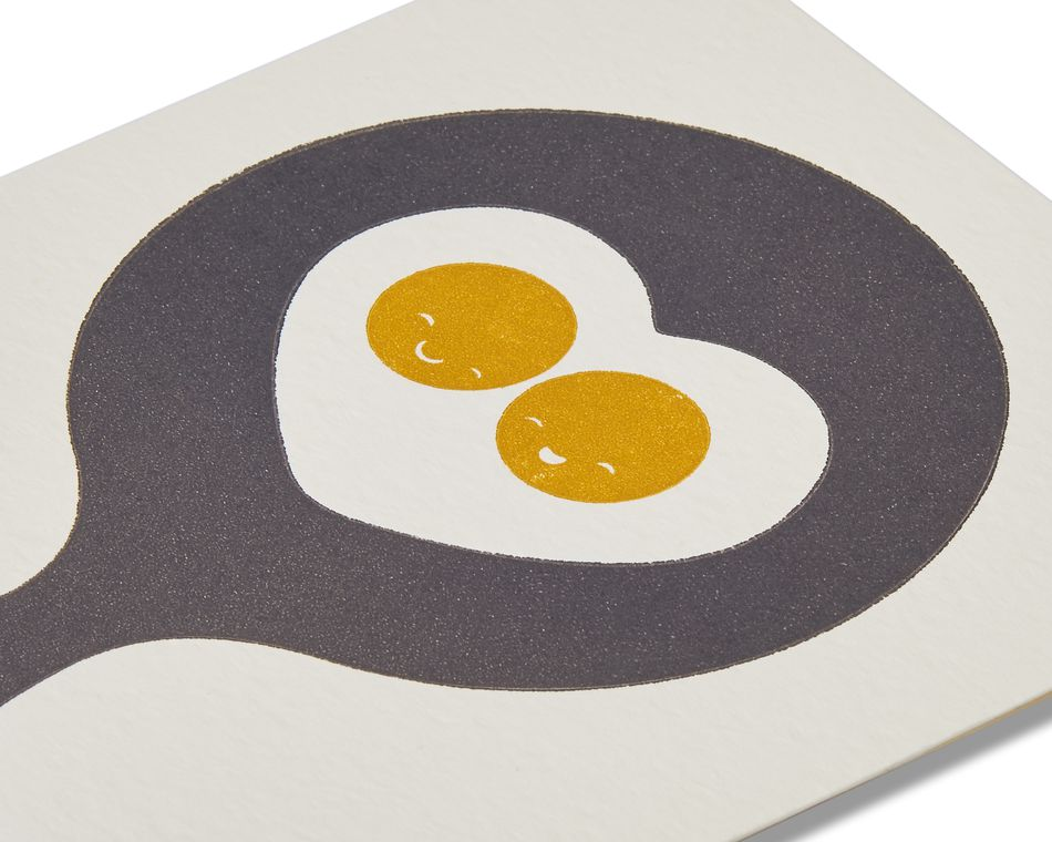 funny sunny-side up wedding card