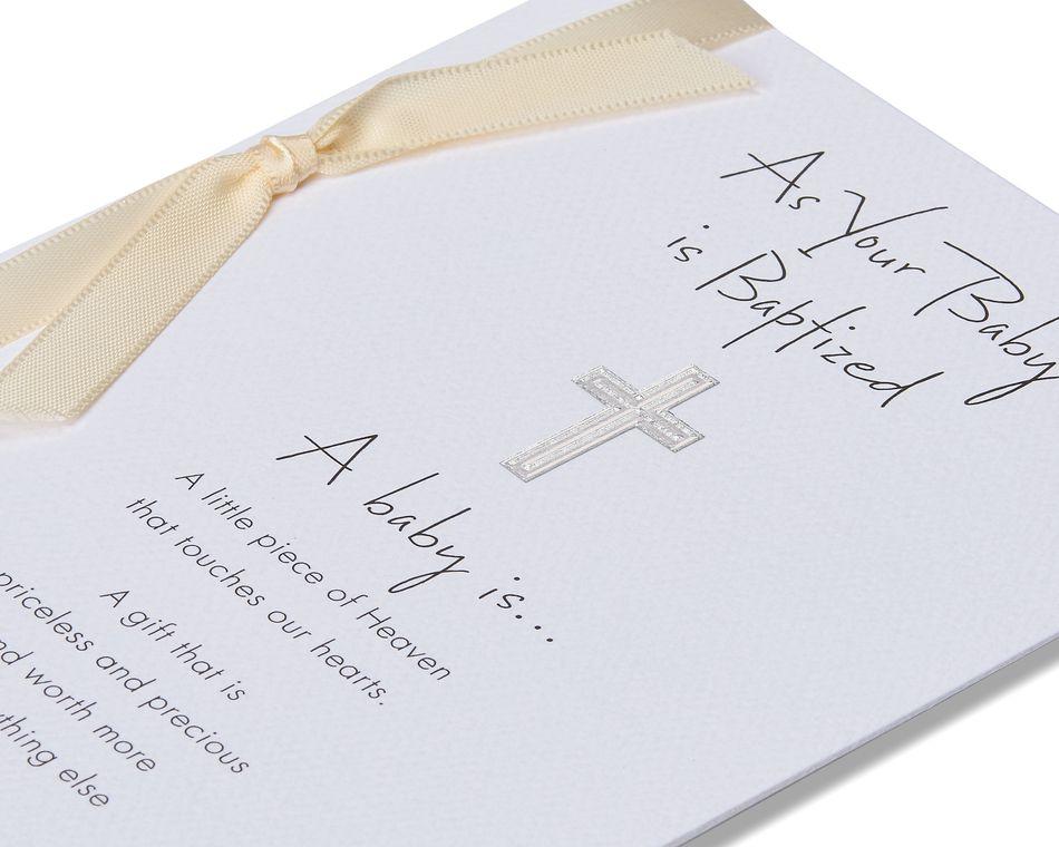 religious baptism card