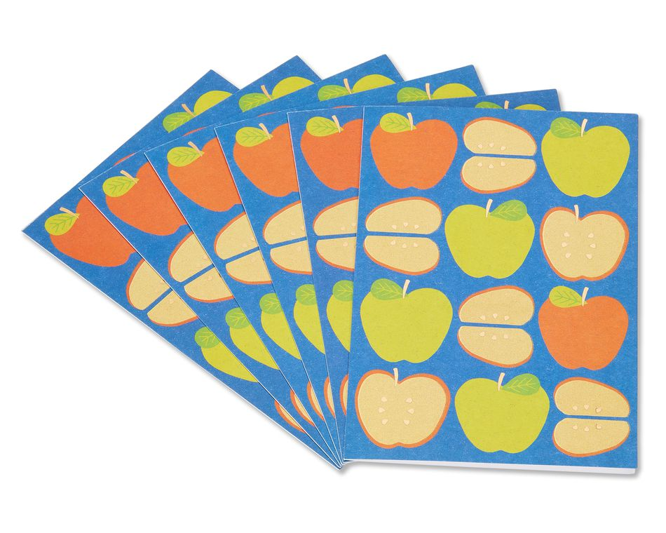 apples thinking of you cards, 6- count
